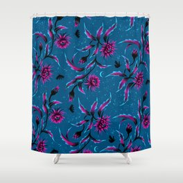 Queen of the Night - Teal / Purple Shower Curtain