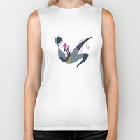 catwoman Biker Tanks featuring Catwoman by Kathryn Hudson Illustrations