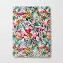 Floral and Flamingo VII pattern by burcukorkmazyurek
