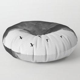 Bird migration Floor Pillow