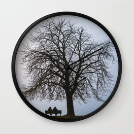 That night we sat together under a tree Wall Clock