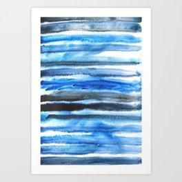 blue brush stroke Art Print