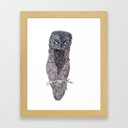 Owl // ink Framed Art Print
