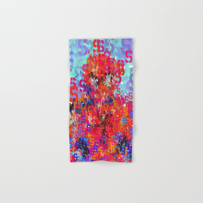 Spider Type Man - Abstract Pop Art Comic Hand & Bath Towel