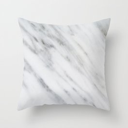 Carrara Italian Marble Throw Pillow