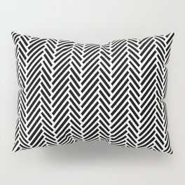 Herringbone Black Inverse Pillow Sham