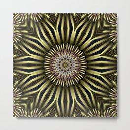 Hypnotic flower Metal Print