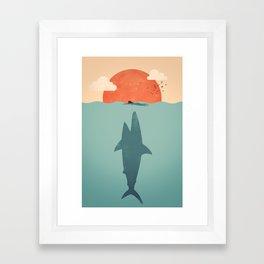 Shark Attack Framed Art Print