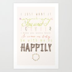 One Direction: Happily Art Print