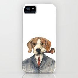 Monsieur Beagle iPhone Case