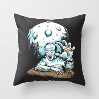 dragonball z Throw Pillows featuring Z! by Locust Years