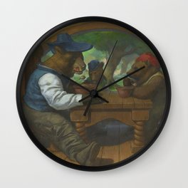The Three Bears Eating Porridge Wall Clock