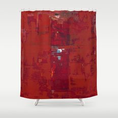 Solomon Abstract Red Modern Art Painting Shawn McNulty Shower Curtain