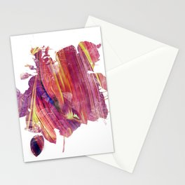Red mask flow Stationery Cards