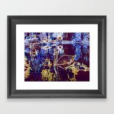 Neon Swans Framed Art Print