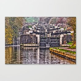 Hatton Locks Warwickshire Canvas Print
