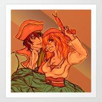 Ayapin Pirate Art Print