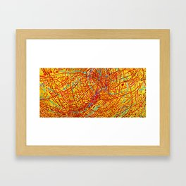 African American Masterpiece 'Magnetic Fields' by Mildred Thompson Framed Art Print