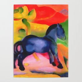 "Franz Marc ""Little Blue Horse"" Poster"