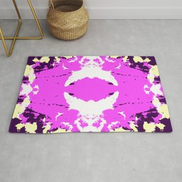 Ichitomi - Abstract Colorful Batik Camouflage Tie-Dye Style Pattern Rug