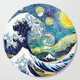 Starry Wave Night Cutting Board