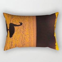 Swan Sunset on the Griffin Rectangular Pillow