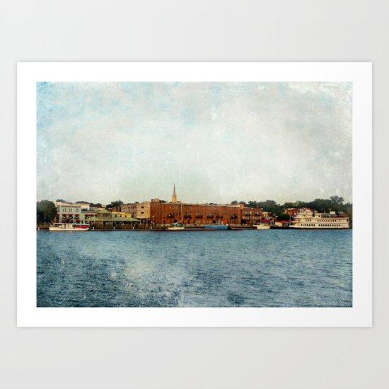 Wilmington, NC on the Cape Fear River Art Print