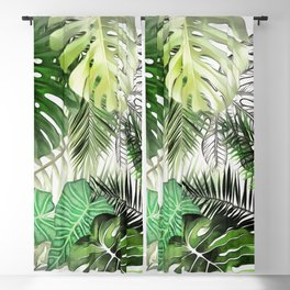 Tropical Foliage 01 Blackout Curtain