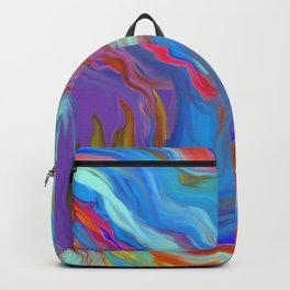AGATE INTERPRETED:  COOL WAVES HOT SUMMER BREEZE OIL PAINTING Backpack
