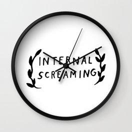 Internal screaming Wall Clock