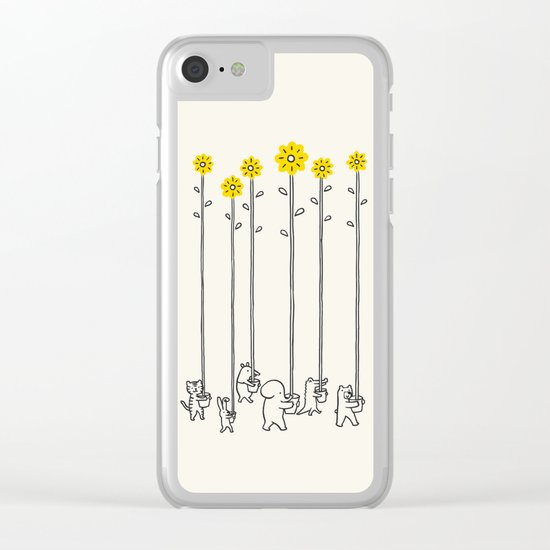 Seeds of hope Clear iPhone Case