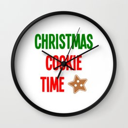 Christmas Cookie Time Merry Christmas Wall Clock