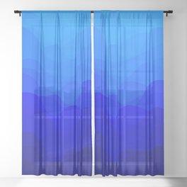 Blue Waves Sheer Curtain