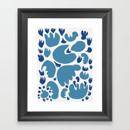 Abstract Blue Sea Pattern Illustration Decoration French Art Framed Art Print