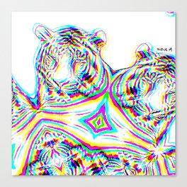 Tiger 4, glitched  Canvas Print