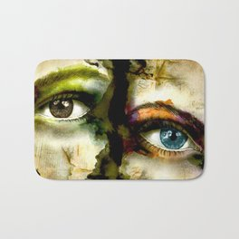 2Eyes2Faces by carographic Bath Mat