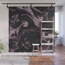 Ruin - Dark Suminagashi Marble Series: 03 Wall Mural