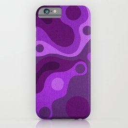 Groovy Psychedelic Purple Lava Shag Design iPhone Case