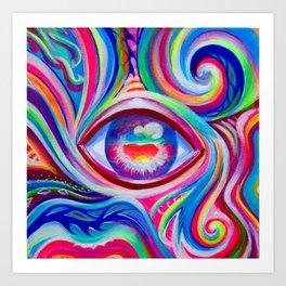 """Eye love you too"" by Audreana Cary & Adam France Art Print"