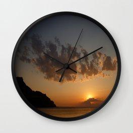 Sunset III Wall Clock