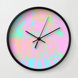 Clouds Mingle with Lines 5 Wall Clock