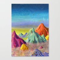 mountains Canvas Prints featuring mountains  by Robert Deutsch