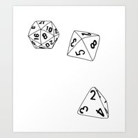 dungeons and dragons Art Prints featuring Dungeons and Dragons Dice by mrcarter