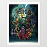 Lil' Super Friends Art Print