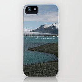 glacial lagoon iPhone Case