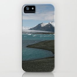 glacial lagoon iPhone Case