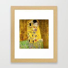 The Kiss by Klimt Framed Art Print