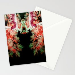 Neon Mirrored Trees 15 Stationery Cards