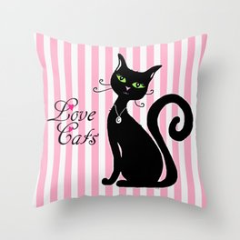 Love Cats Throw Pillow