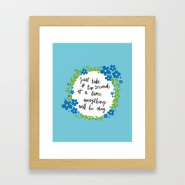 Ten Seconds - Blue Framed Art Print
